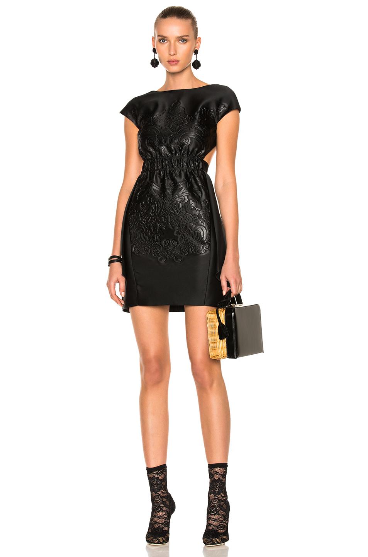 Fendi Open Back Dress in Black