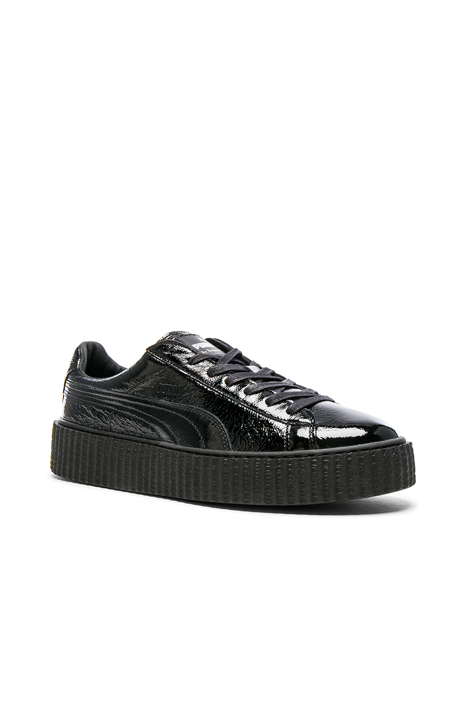 Fenty by Puma Cracked Leather Creepers in Black