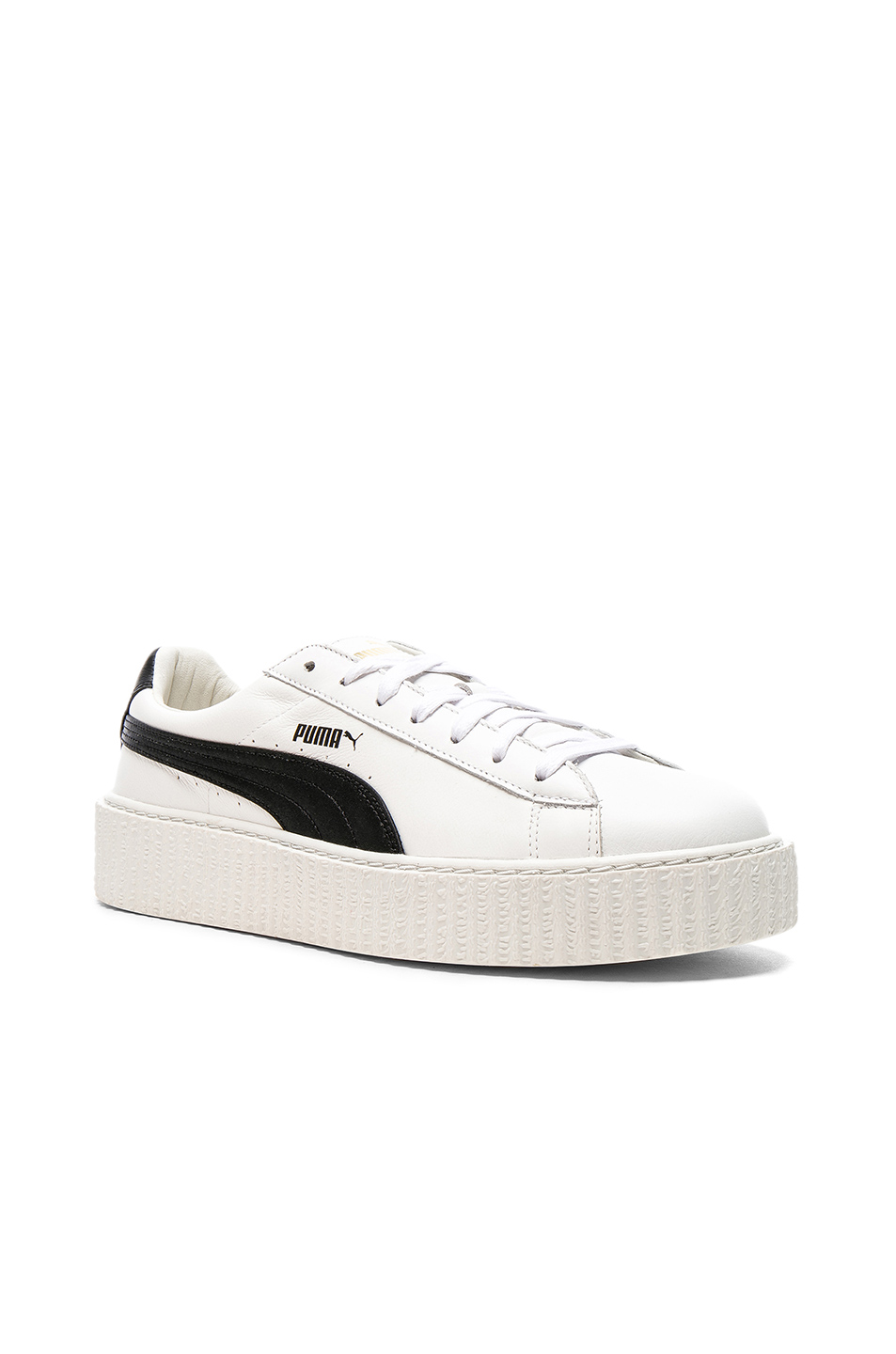 Fenty by Puma Cracked Leather Creepers in White