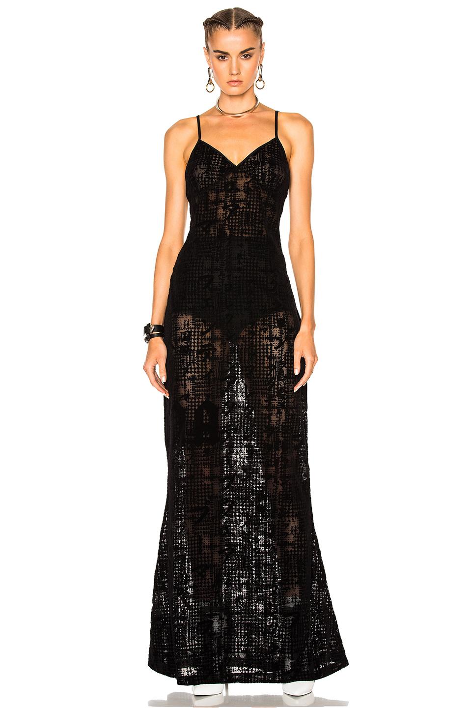 Fenty by Puma Flocked Tulle Dress in Black