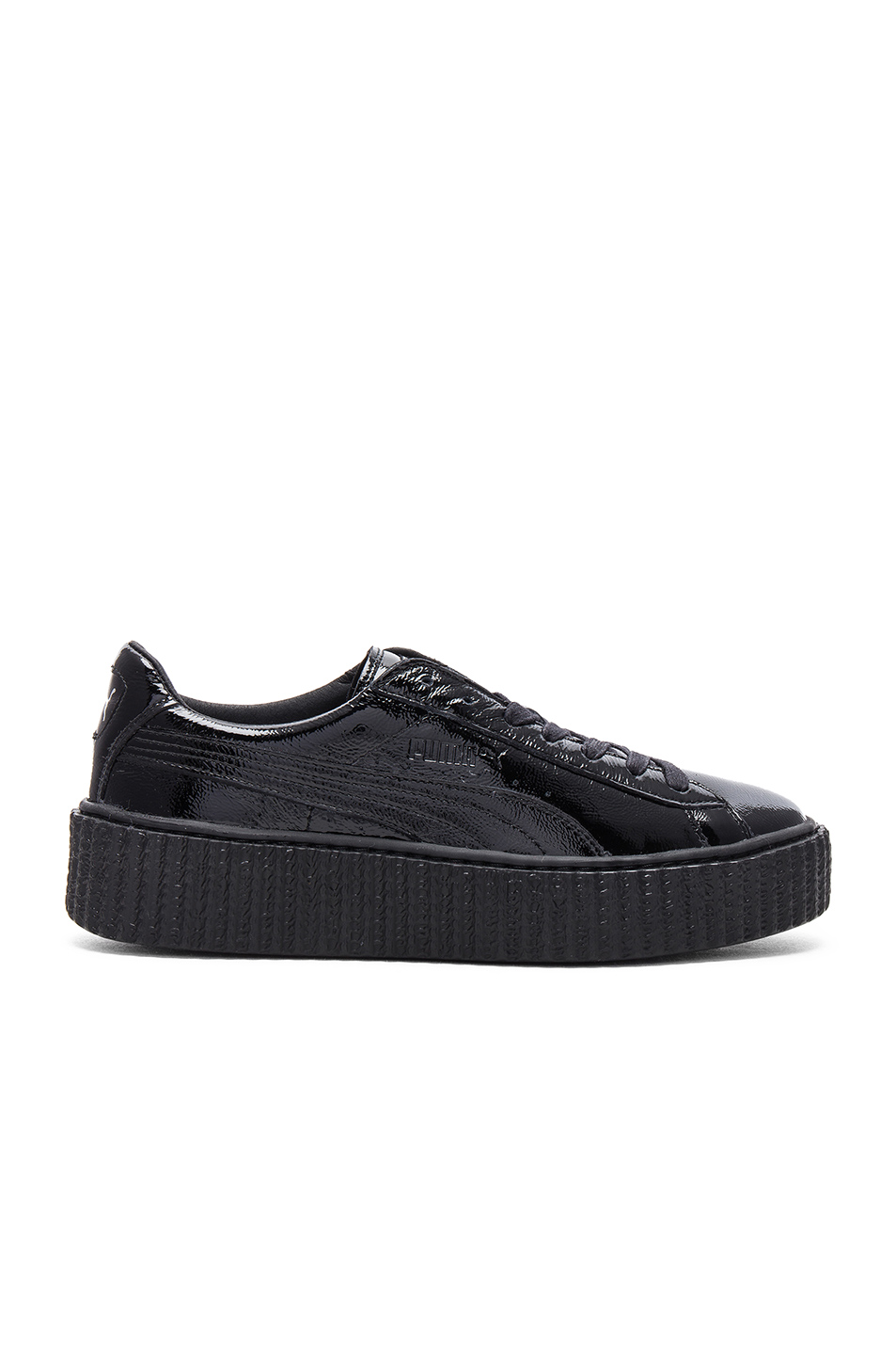 Fenty by Puma Patent Leather Creeper Sneakers in Black