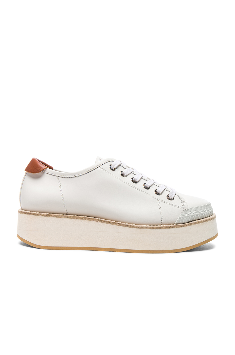 Flamingos Leather Tatum Sneakers in White