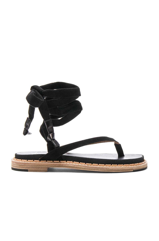 Flamingos Suede Zinnia Sandals in Black