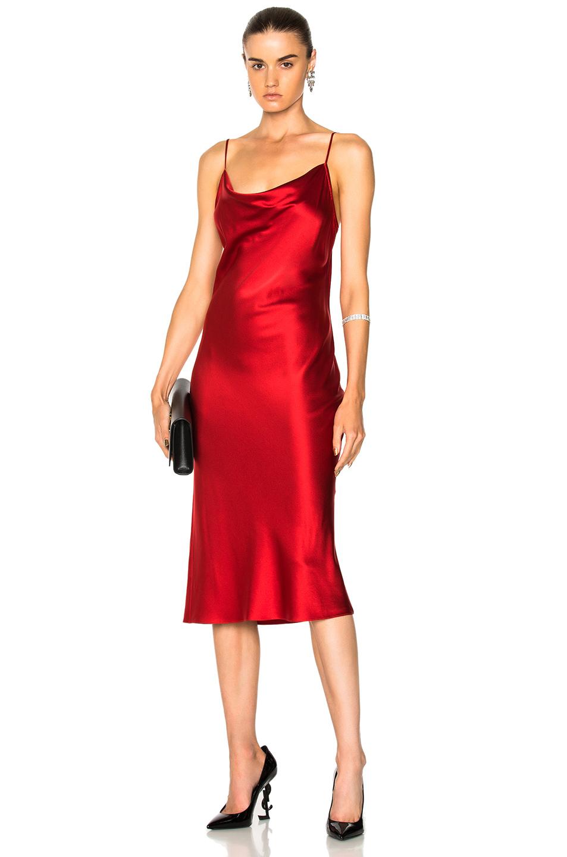 fleur du mal Cowl Neck Slip Dress in Red
