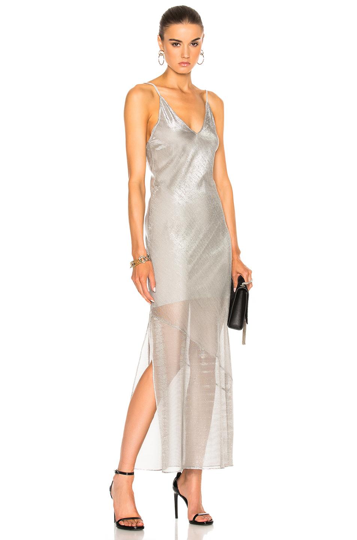 fleur du mal Long Slip Dress in Metallics