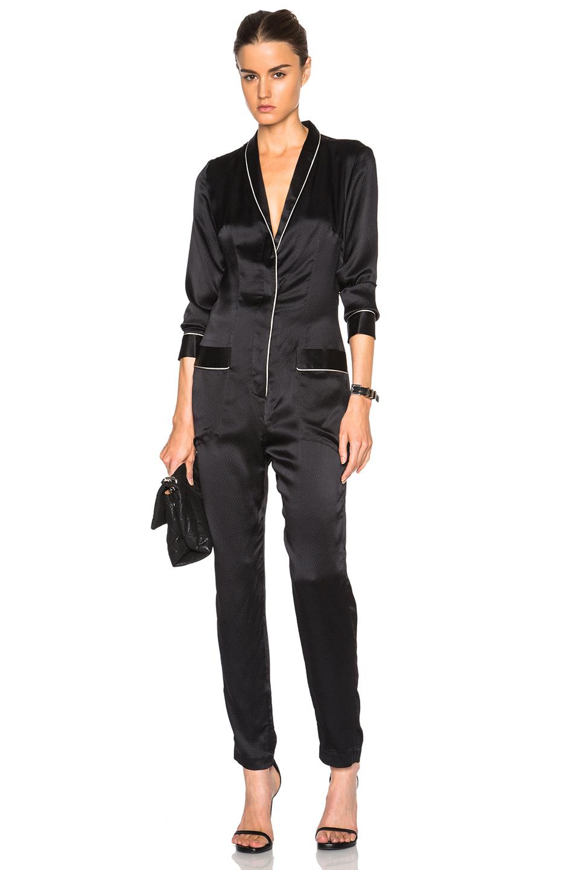 fleur du mal Pajama Jumpsuit in Black