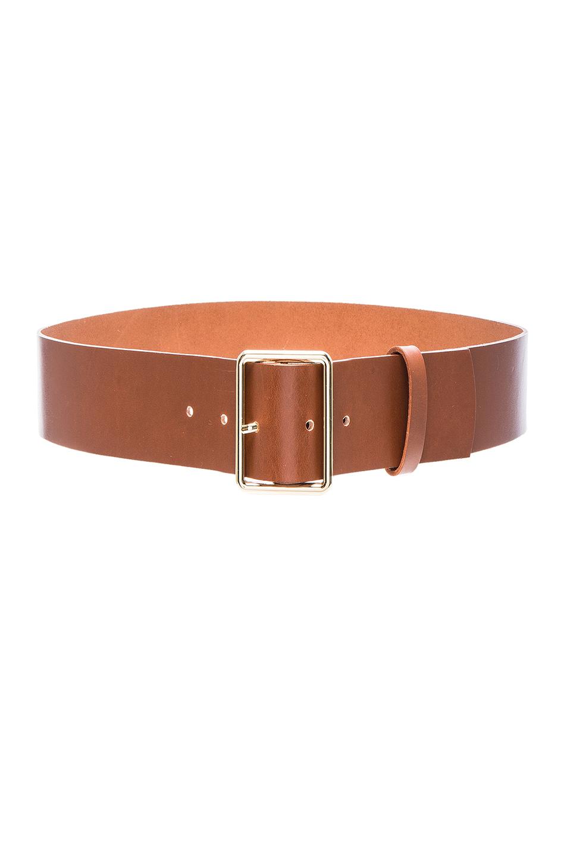 FRAME Denim Rectangle Belt in Brown