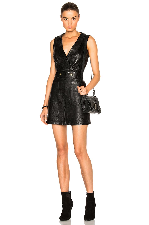 FRAME Denim Waistcoat Dress in Black