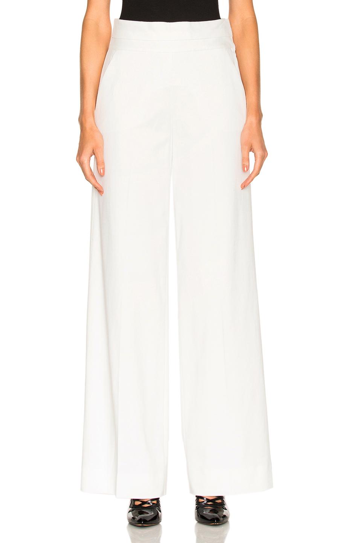 FRAME Denim Tux Pant in White