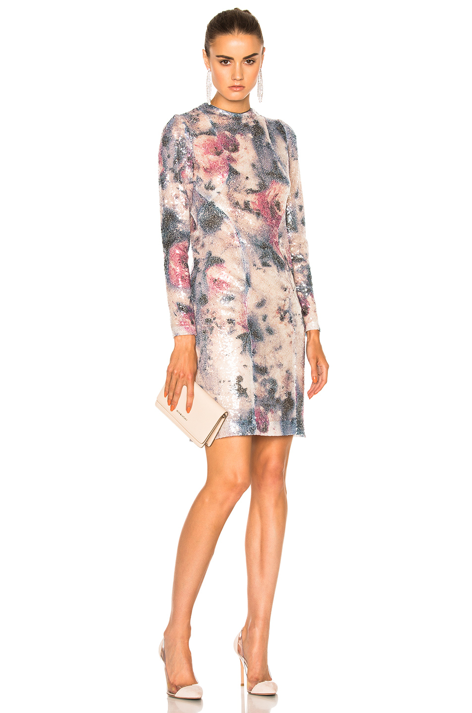 GALVAN Desert Rose Cocktail Dress in Floral,Pink,Abstract,Ombre & Tie Dye