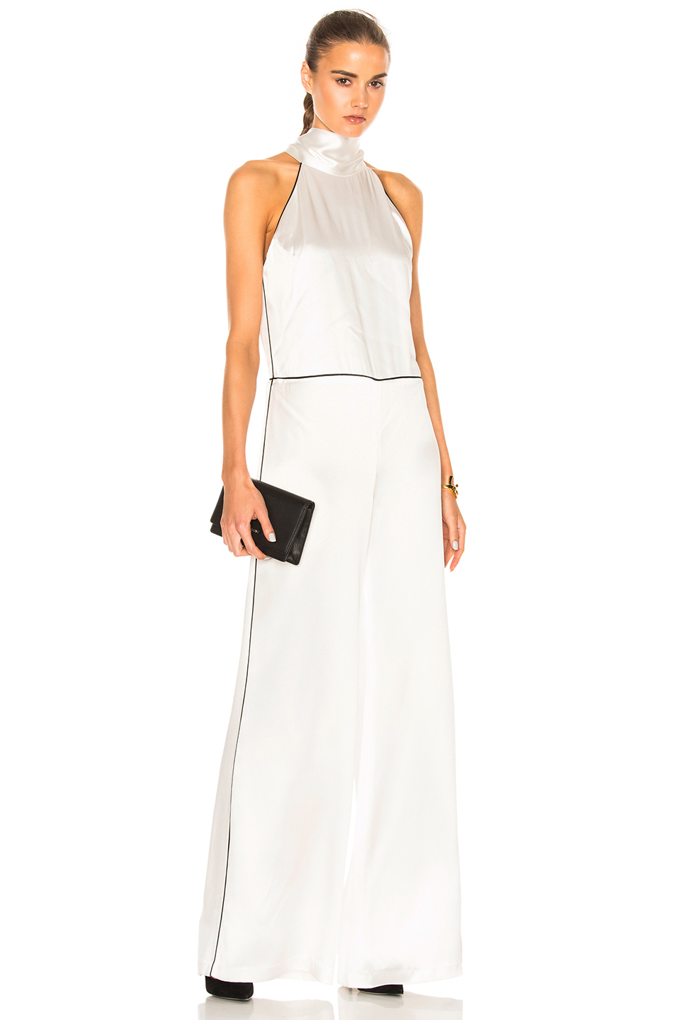 GALVAN Windmill Jumpsuit in White
