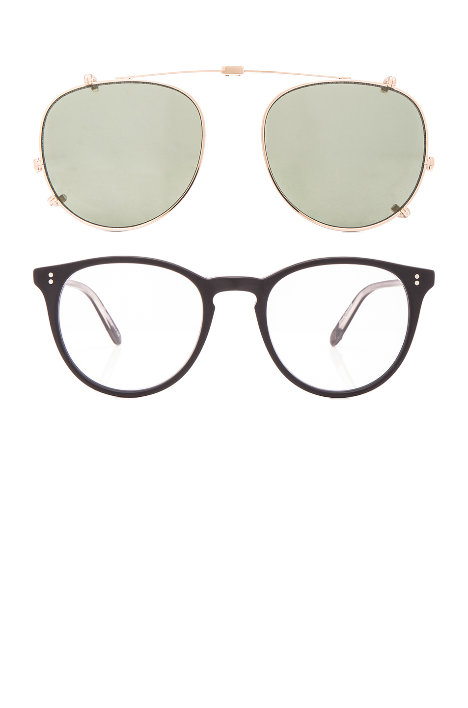 Garrett Leight Milwood Clip 49 in Black