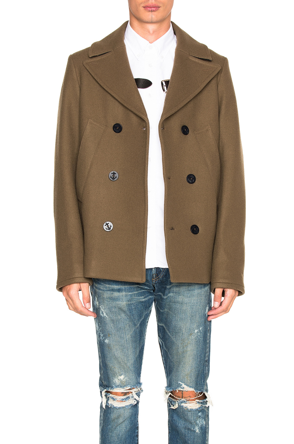 Golden Goose Ian Coat in Green