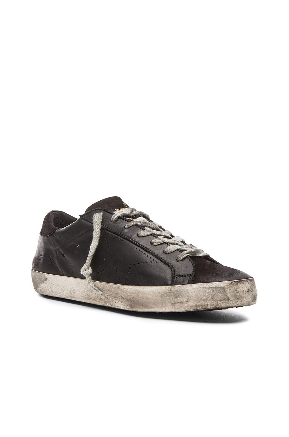 Golden Goose Superstar Leather Sneakers in Black