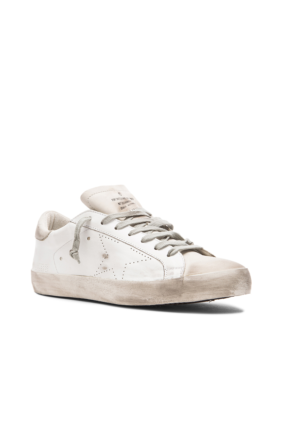 Golden Goose Superstar Sneakers in White