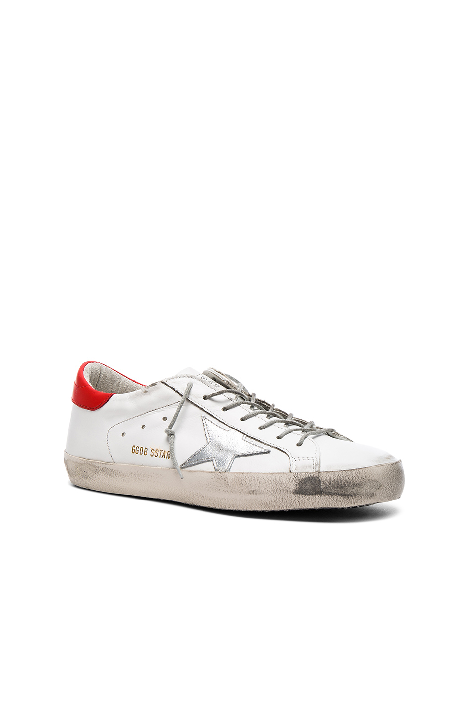 Photo of Golden Goose Leather Superstar Low Sneakers in White - shop Golden Goose menswear