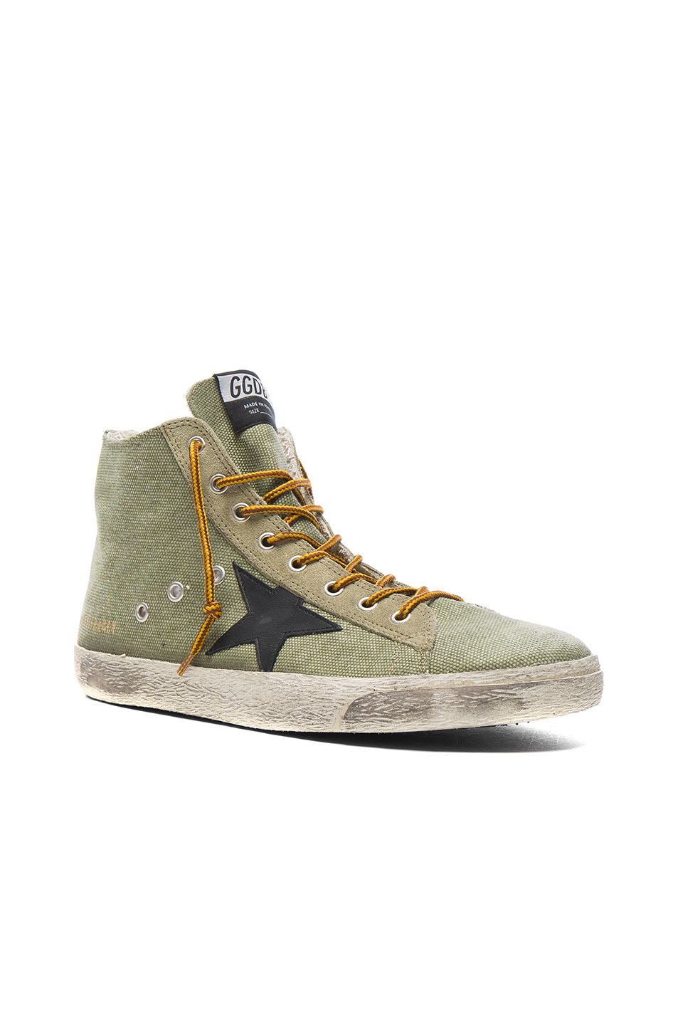 Golden Goose Canvas Francy Sneakers in Green
