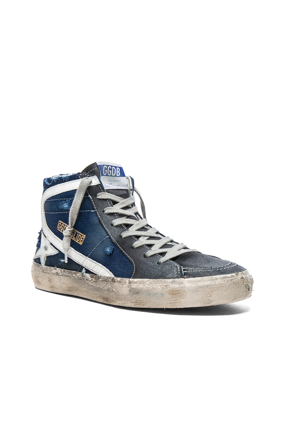 Golden Goose Slide Sneakers in Blue