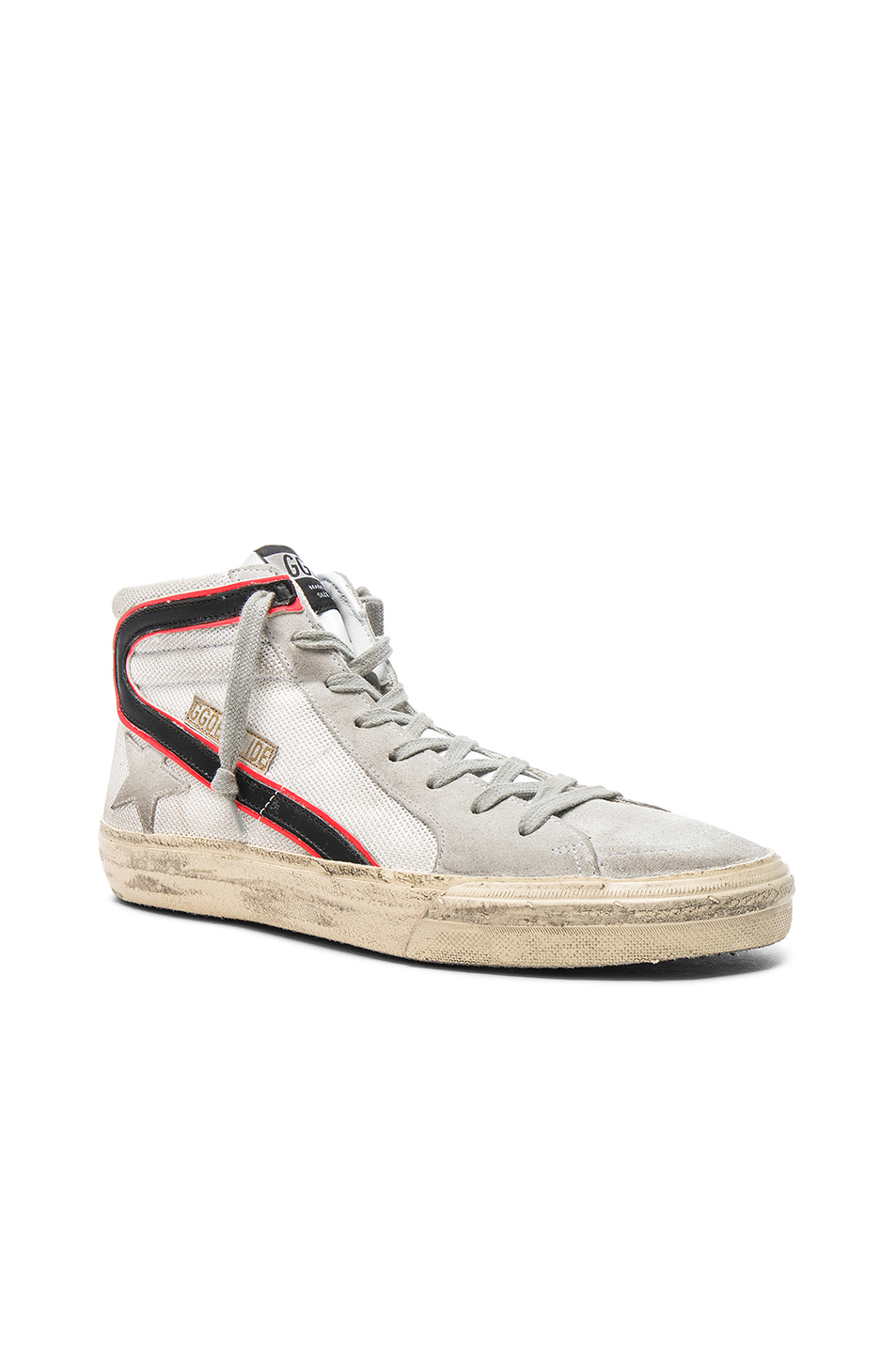 Golden Goose Mesh Slide Sneakers in White