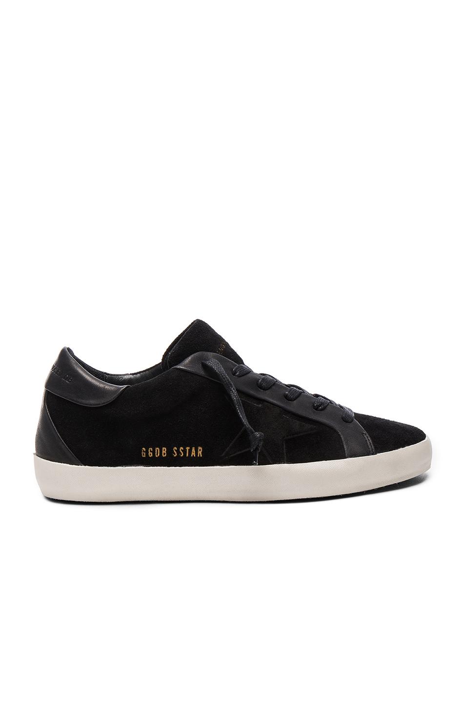 Golden Goose Bespoke Leather Superstar Sneakers in Black