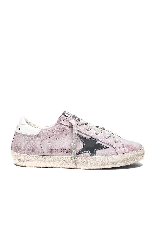 Golden Goose Suede Superstar Low Sneakers in Purple