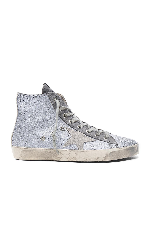 Golden Goose Francy Sneakers in Gray,Metallics