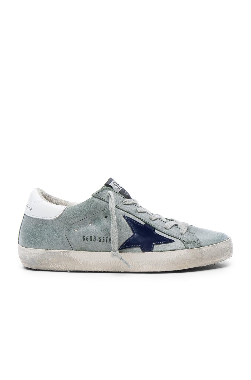 Golden Goose Leather Superstar Low Sneakers in Gray