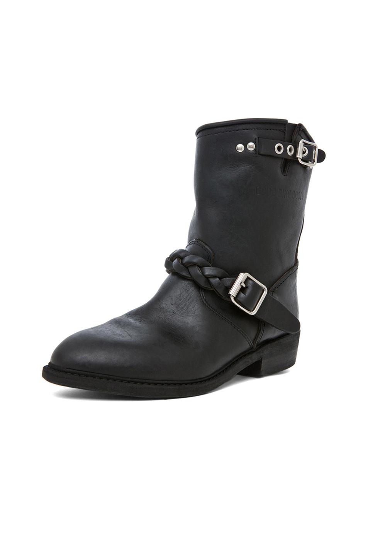 golden goose leather short biker boots in black stud 2. Black Bedroom Furniture Sets. Home Design Ideas