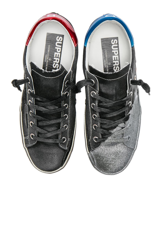 Golden Goose David Bowie Superstar Low Sneakers in Black