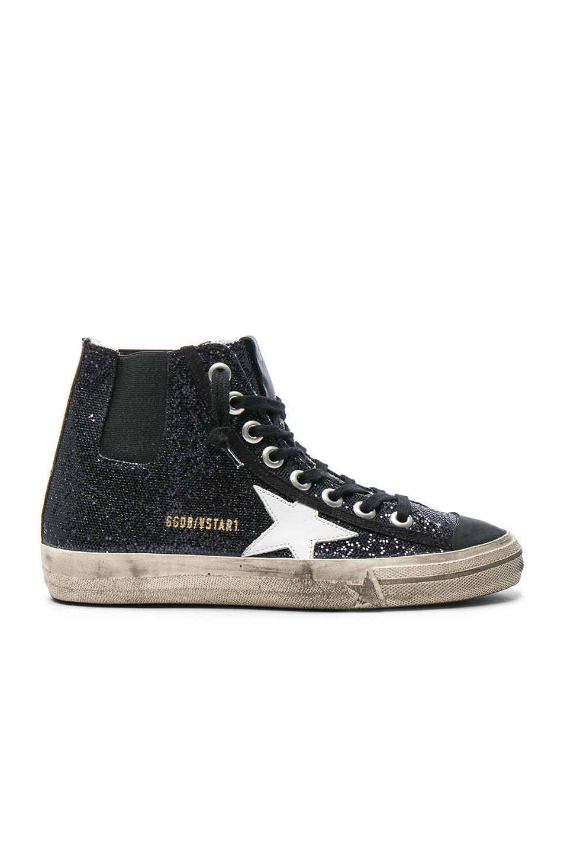 Photo of Golden Goose V Star Sneakers in Black,Metallics shop Golden Goose shoes