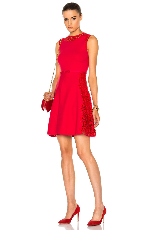 Giambattista Valli Knit Macrame in Red