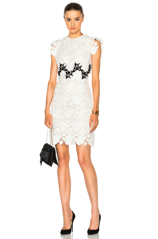 Giambattista Valli Lace Mini Dress in White