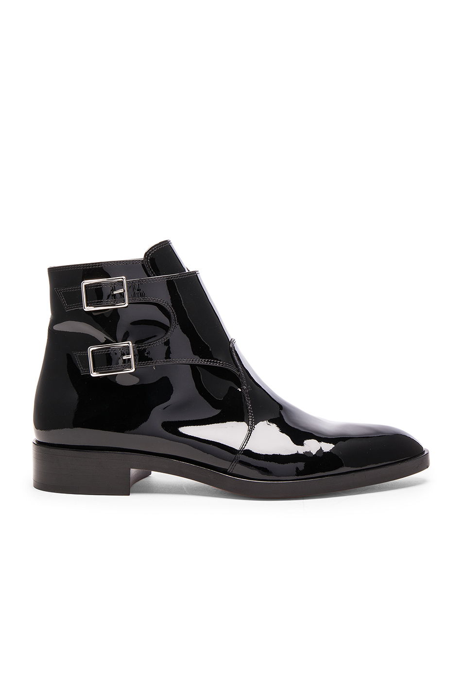 Gianvito Rossi Patent Leather Boots in Black