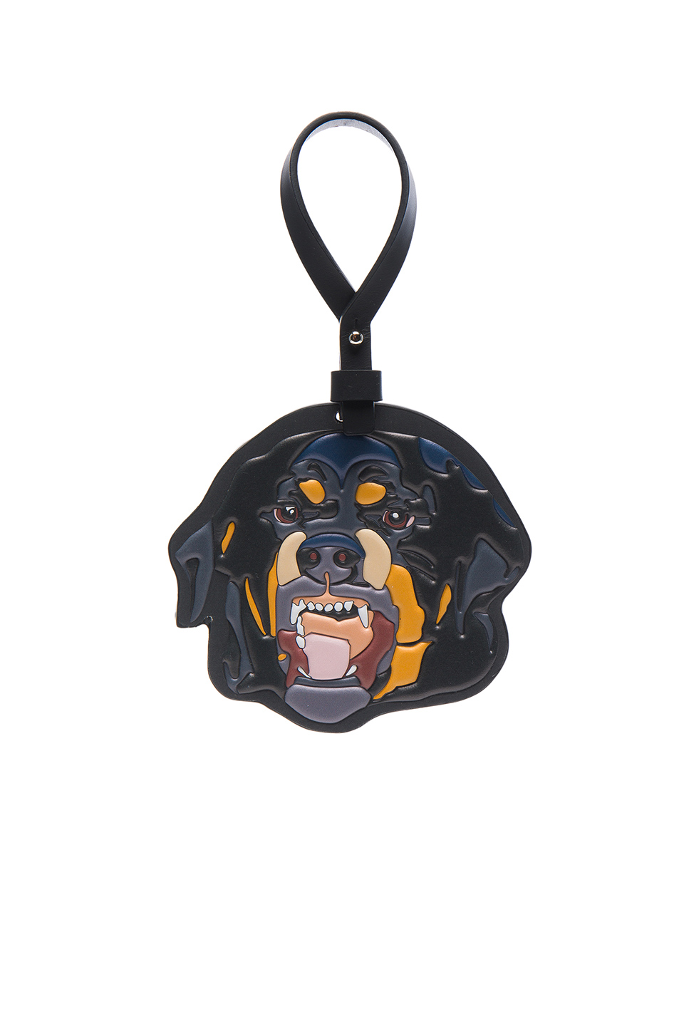 Givenchy Rottweiler Keychain in Black