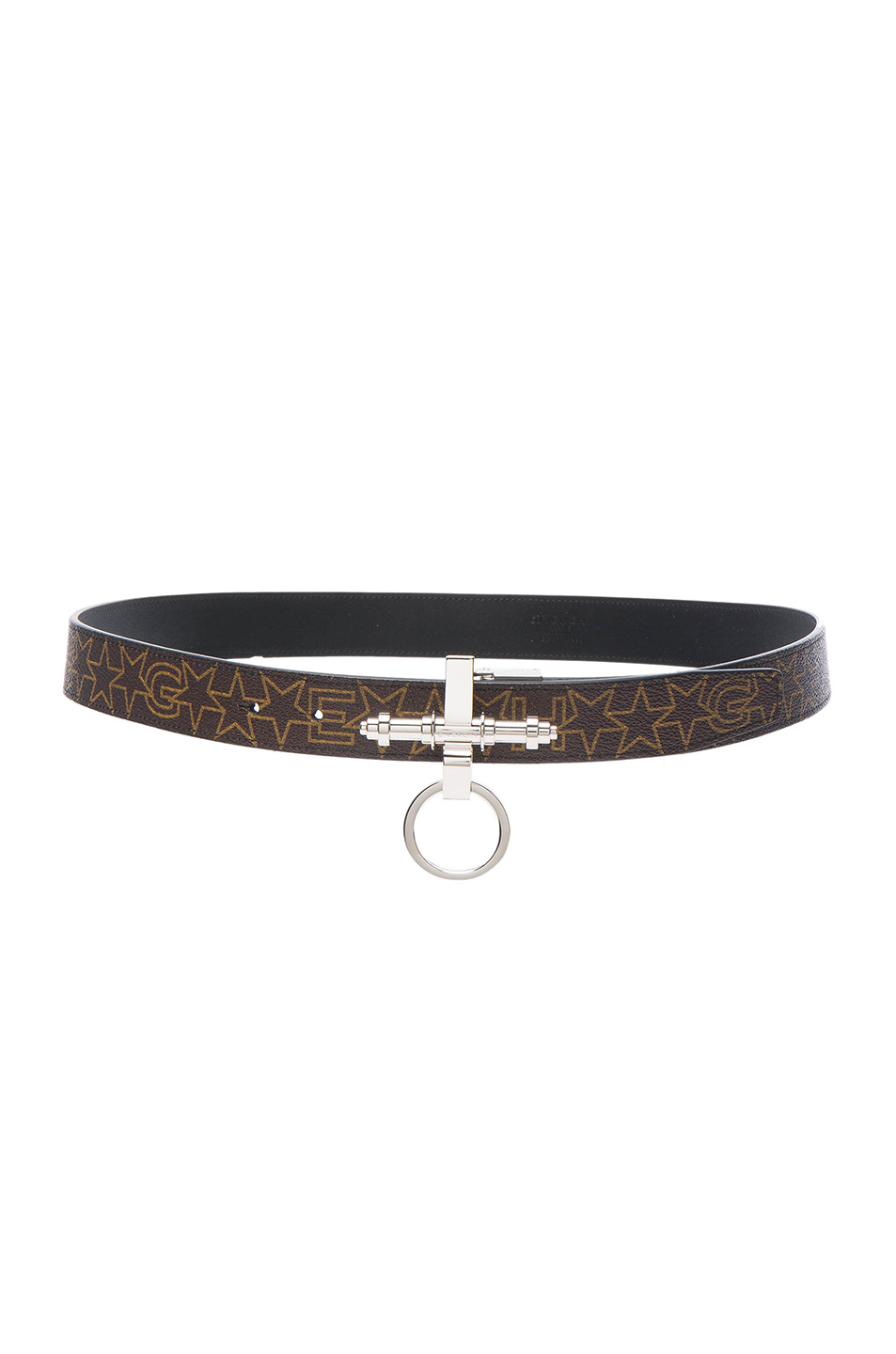 Givenchy Obsedia Belt in Brown,Abstarct,Geometric Print