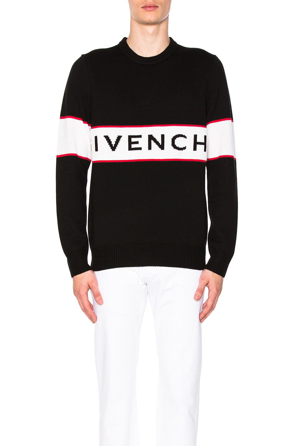 Givenchy Logo Knit Sweater in Black