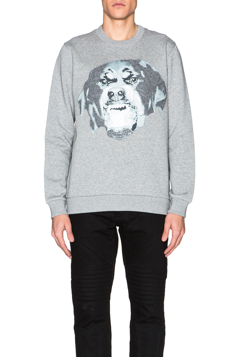 Givenchy Cuban Fit Rottweiler Sweatshirt in Gray