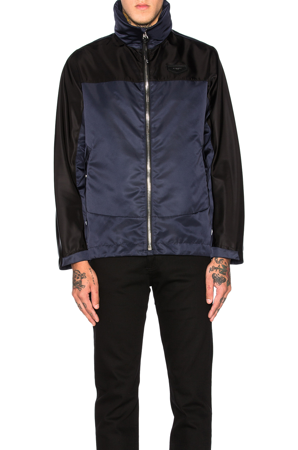 Givenchy Windbreaker in Black,Blue
