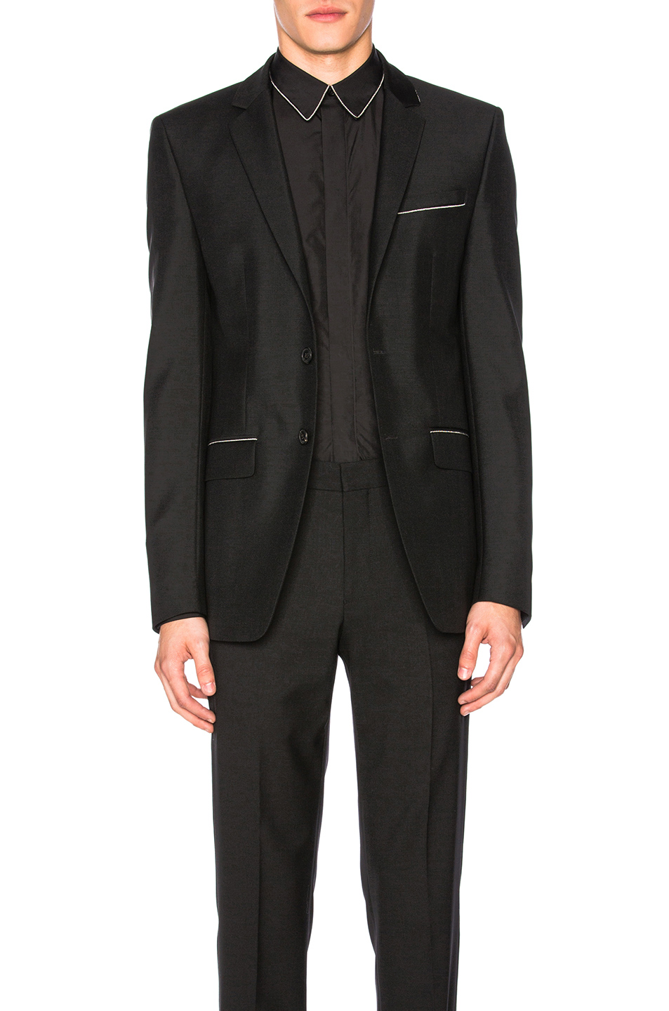 Givenchy Wool Mohair Blazer in Black