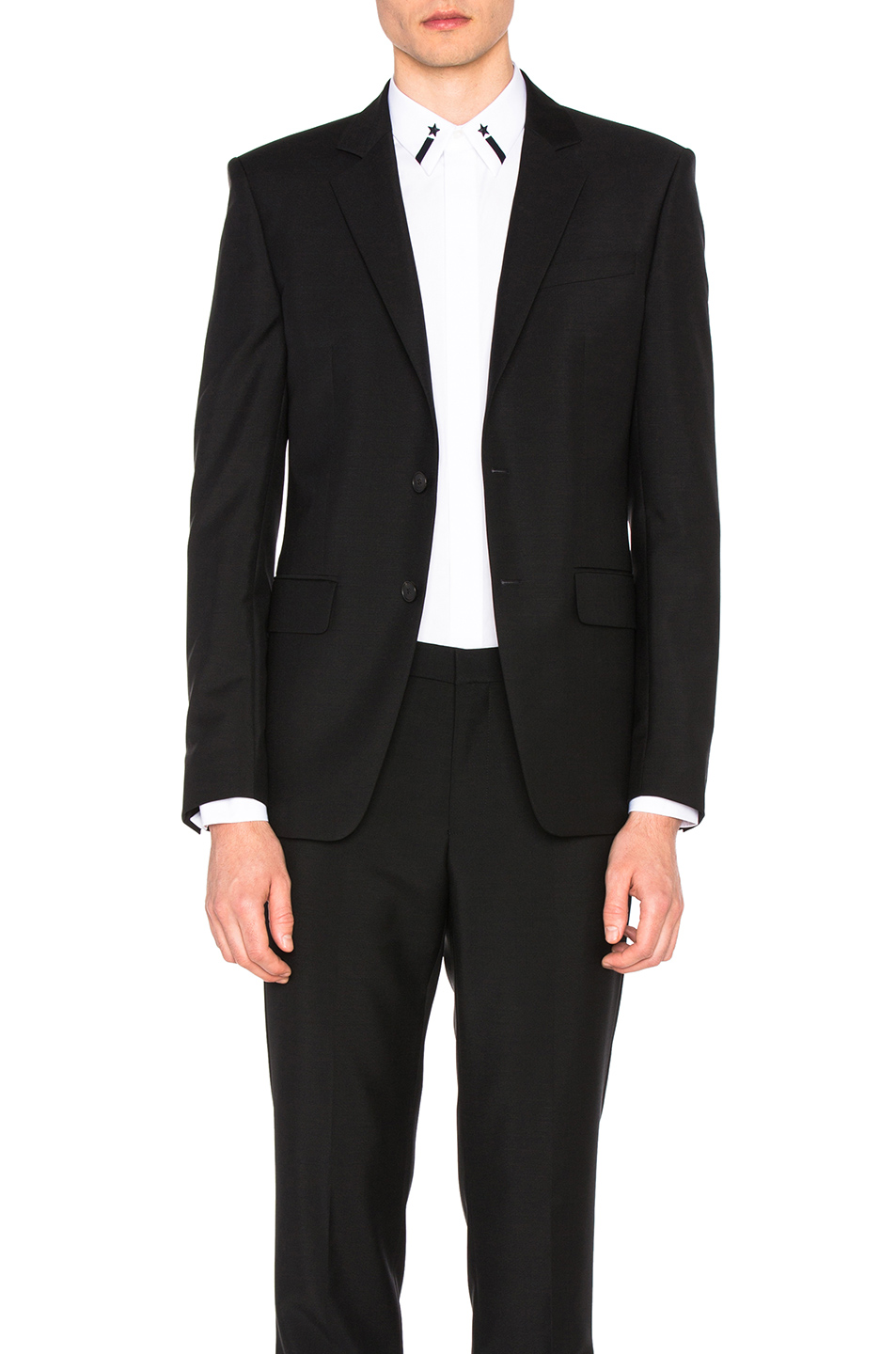 Givenchy Star Collar Detail Blazer in Black