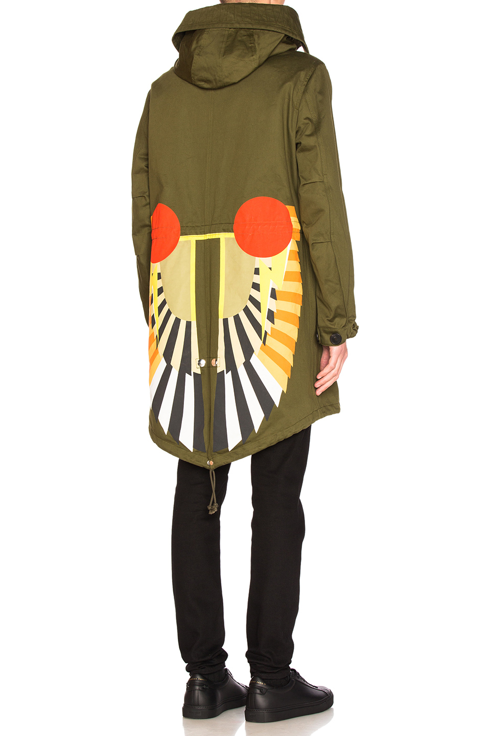 Givenchy Printed Parka in Green