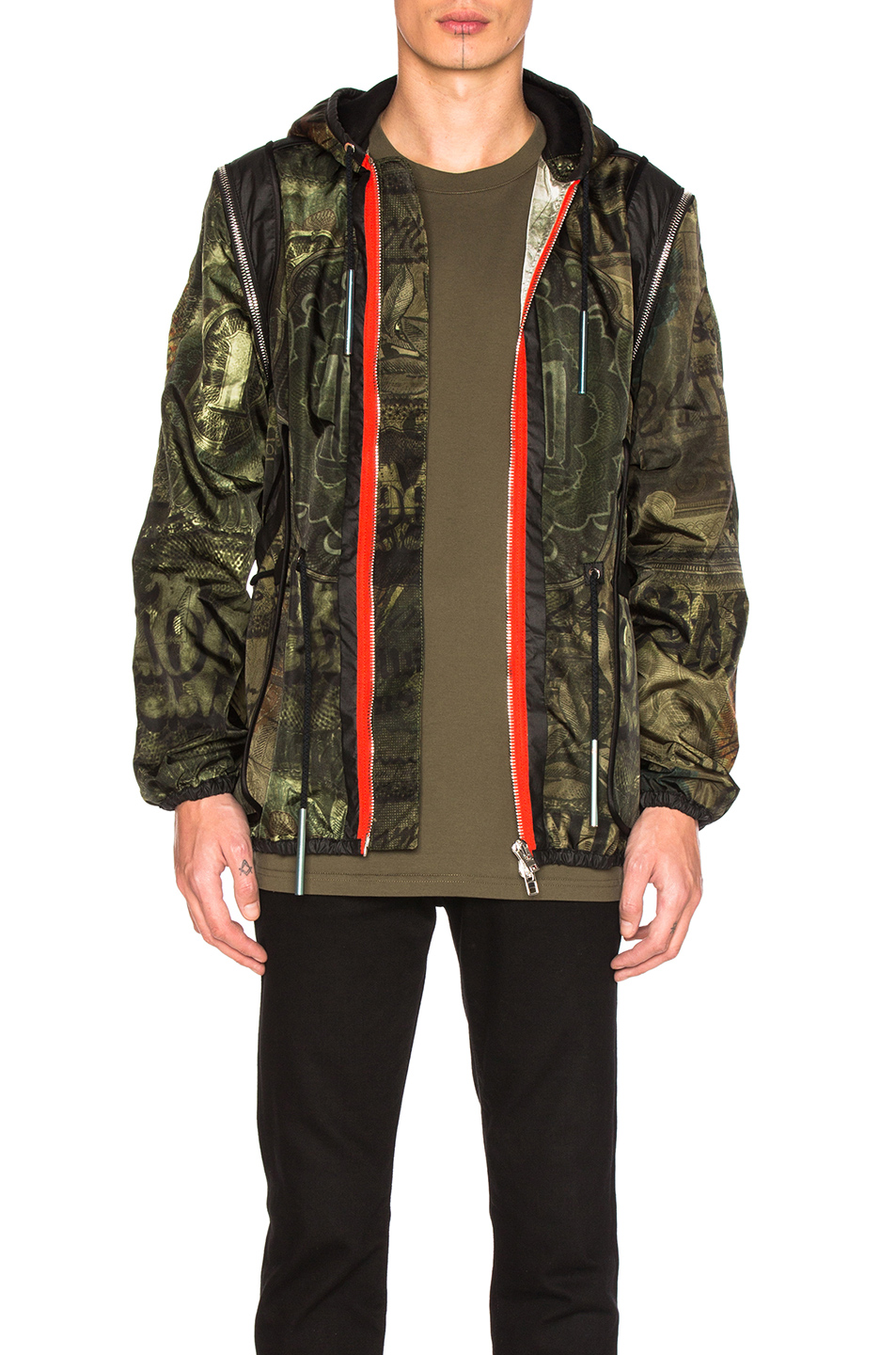 Photo of Givenchy Printed Lightweight Jacket in Green,Abstract - shop Givenchy menswear