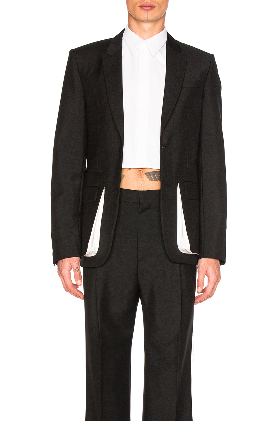 Givenchy Contrast Pocket Blazer in Black