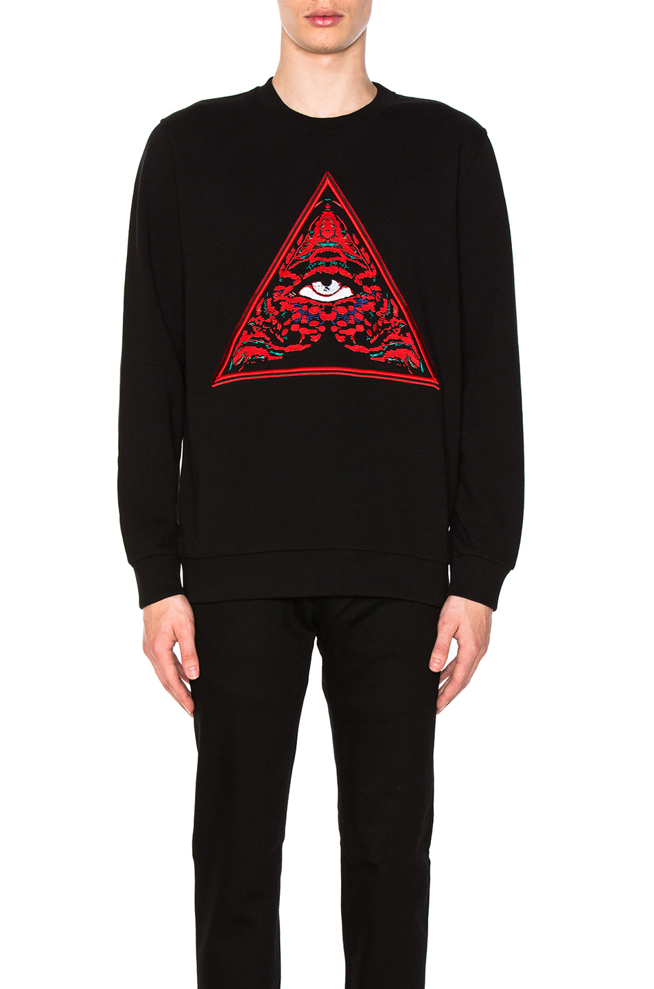Givenchy Triangle Realize Sweatshirt in Black