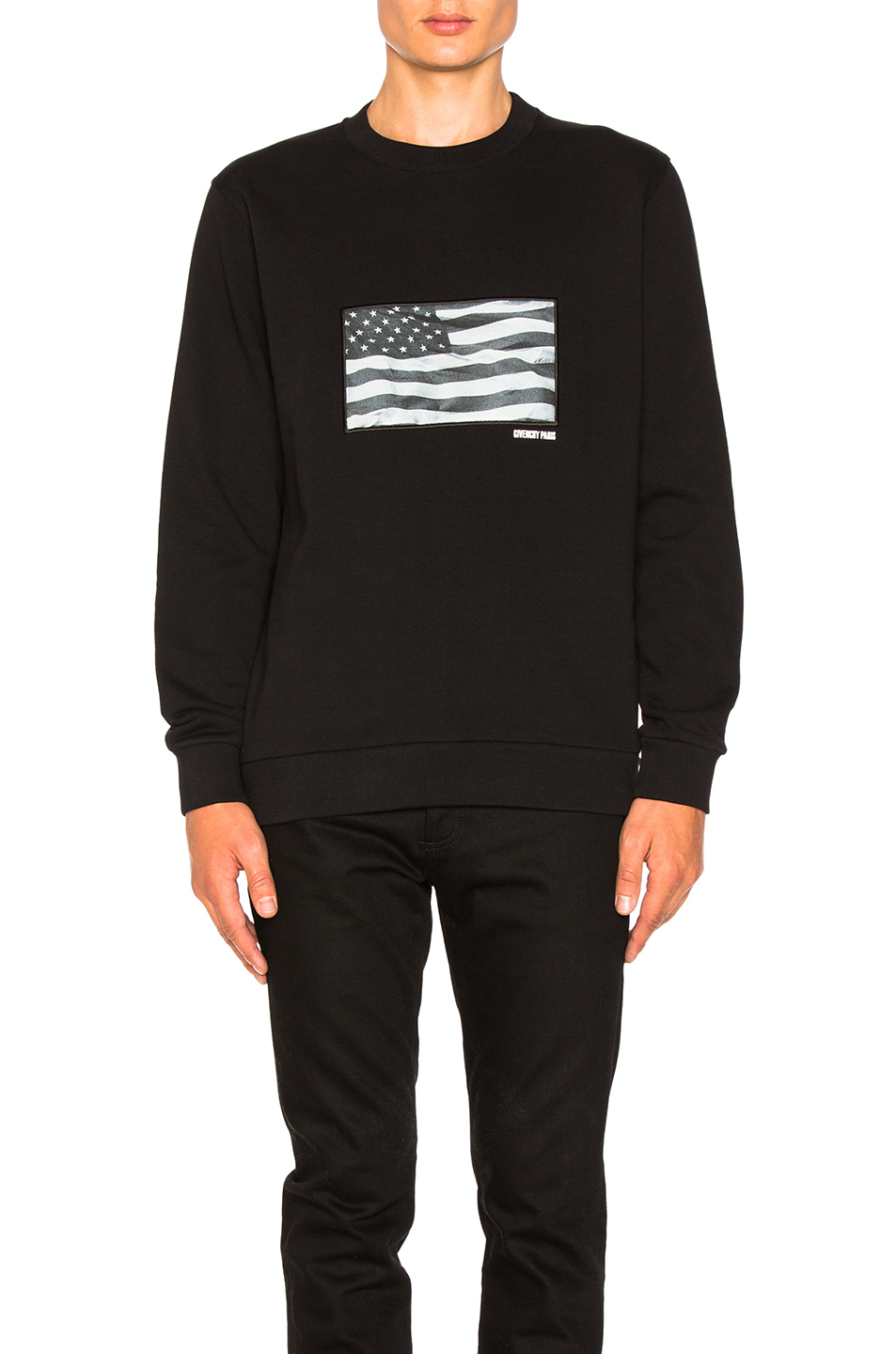 Givenchy American Flag Print Sweatshirt in Black