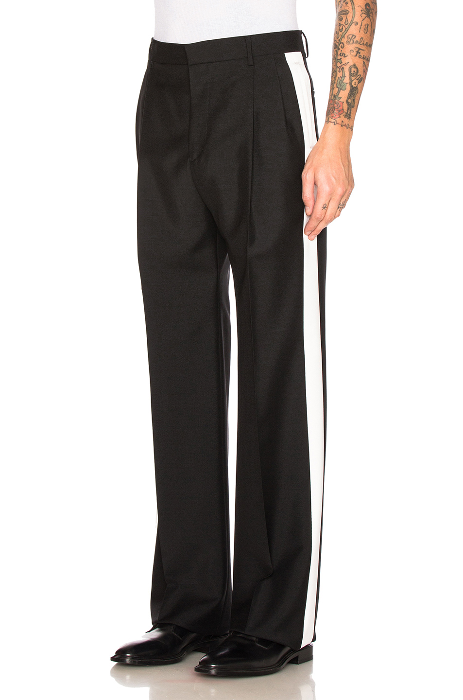 Givenchy Contrast Stripe Trousers in Black