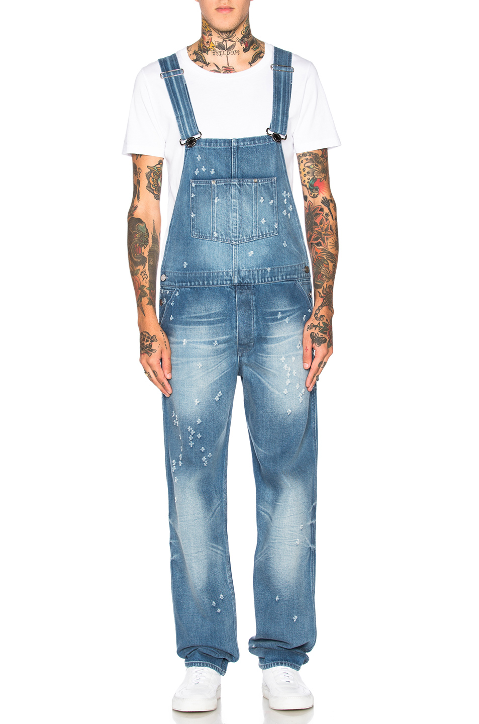 Givenchy Denim Overalls in Blue
