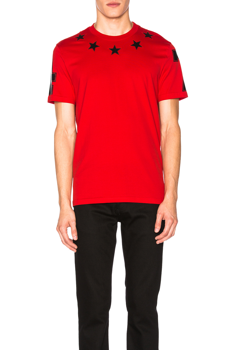 Givenchy Star Collar Tee in Red