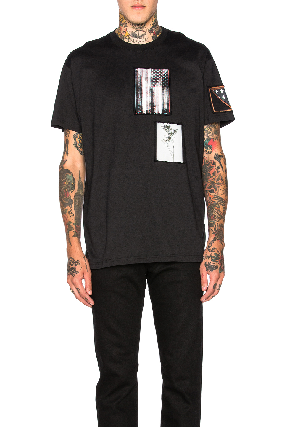 Givenchy Patch Print Tee in Black