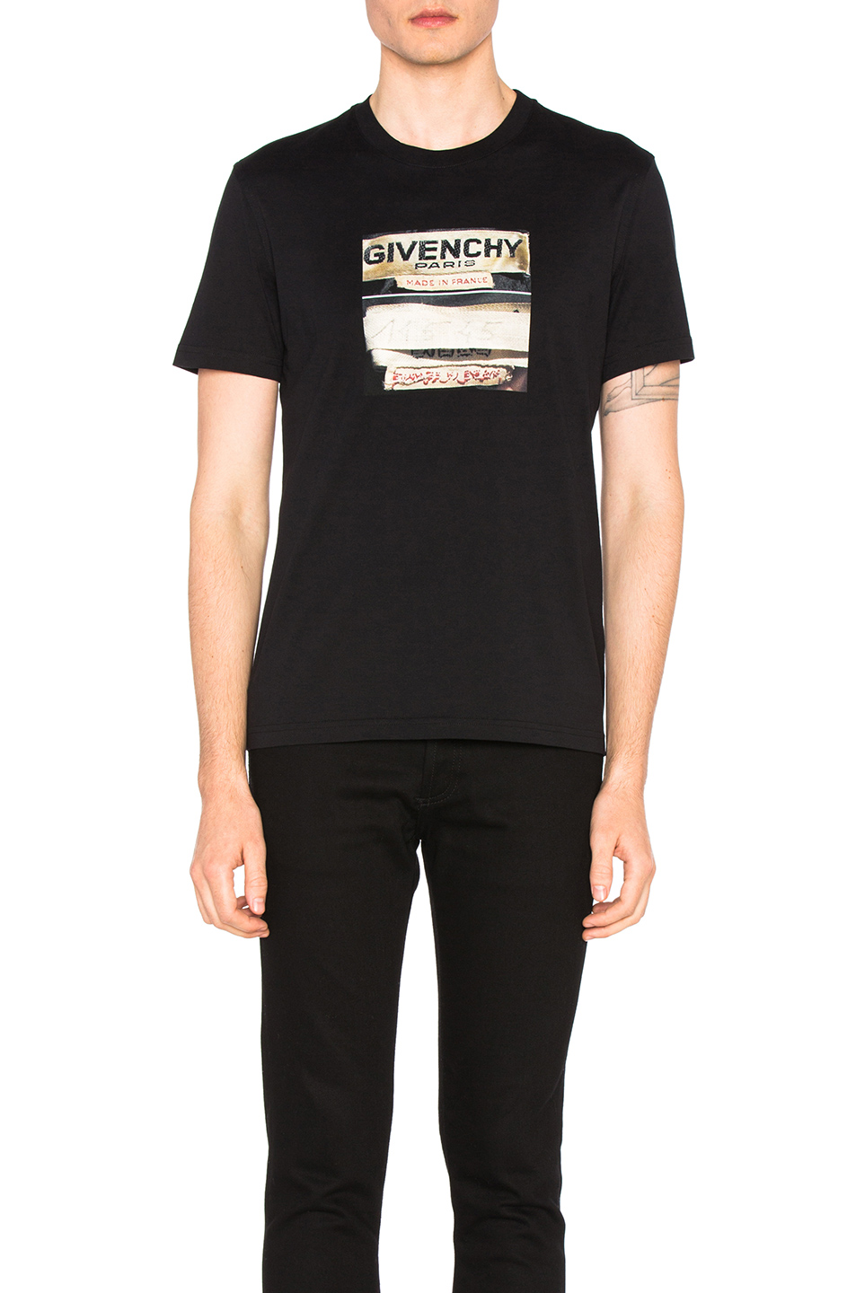 Photo of Givenchy Graphic Tee in Black - shop Givenchy menswear